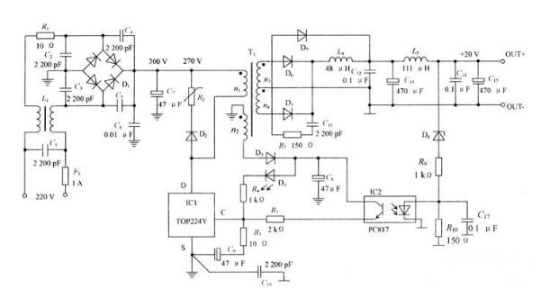 低噪声开关电源原理电路图-杰宝莱可控硅